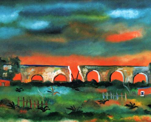 Campagna romana e vecchio ponte, 1976