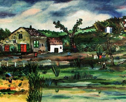 Casolare e orto in periferia, 1982
