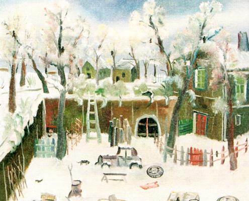 Interno di cortile a Racconigi, 1978